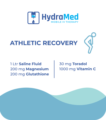 Athletic Recovery IV Bag Label